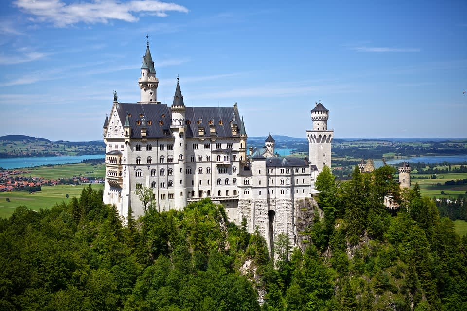 Neuschwanstein Castle exteriors