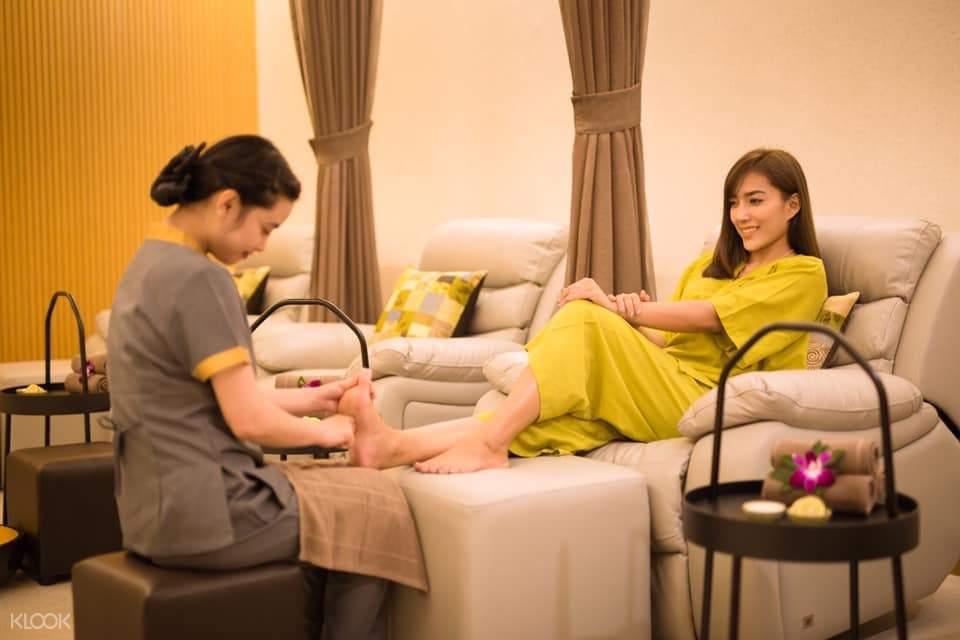 foot massage at Varin Wellness and Spa