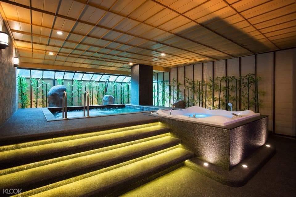 heated pools at Varin Wellness and Spa