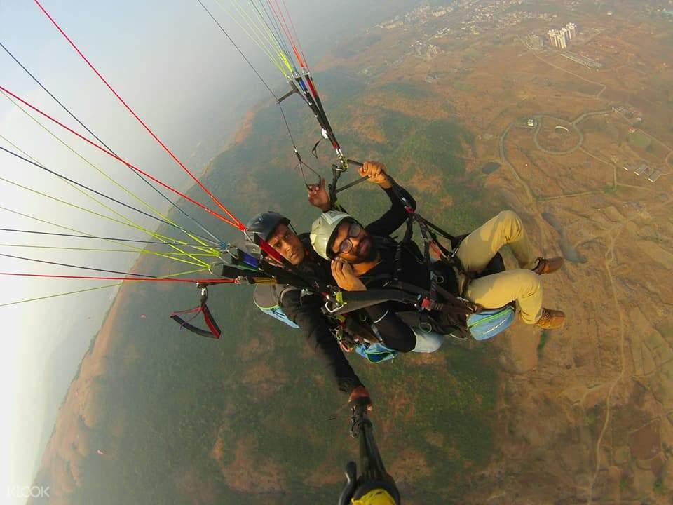 印度 孟买浦那 Kamshet滑翔伞飞行体验