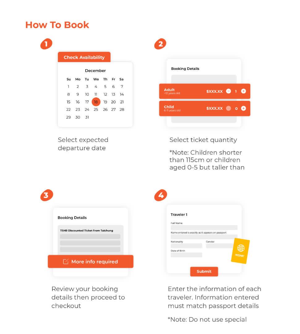 how to book taiwan high speed rail