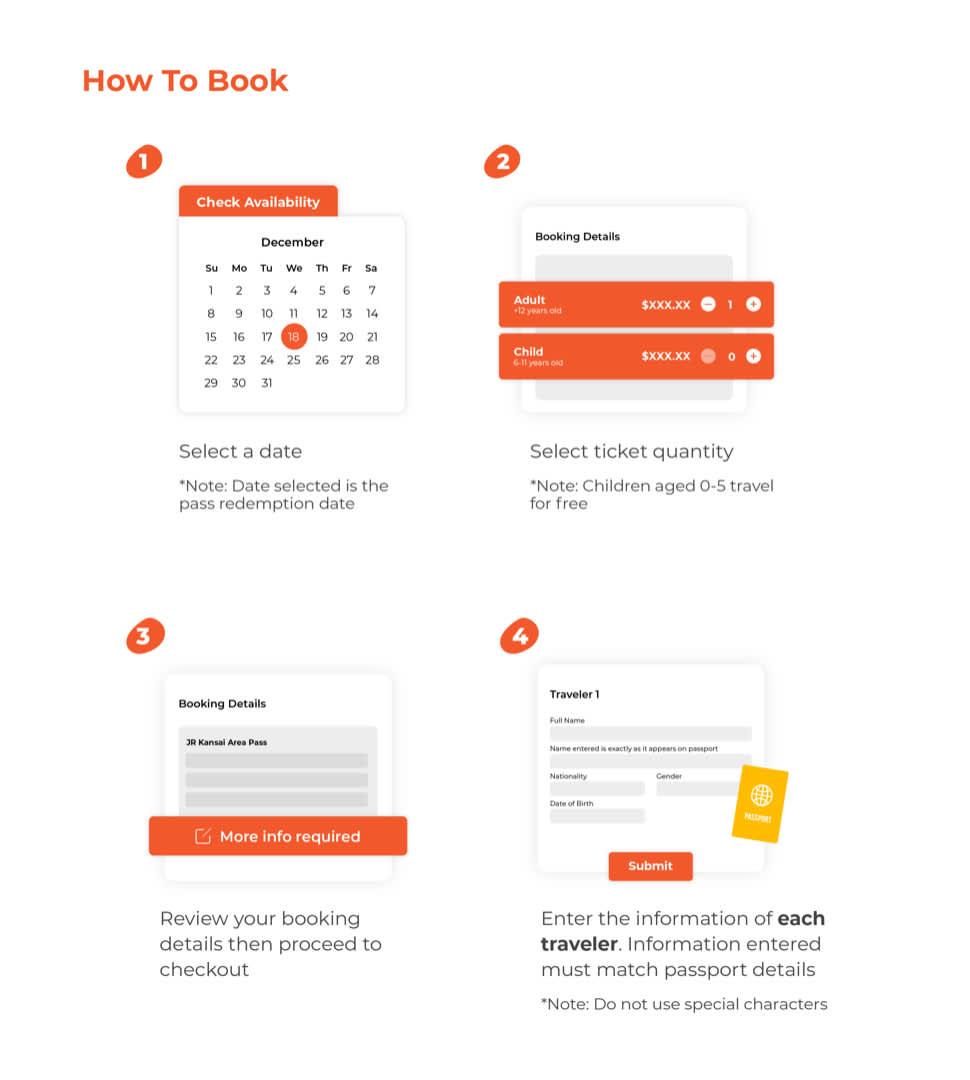 how to book jr kansai area pass map