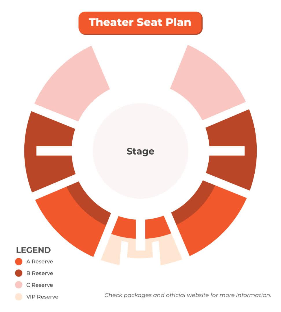 水舞間劇院座位圖