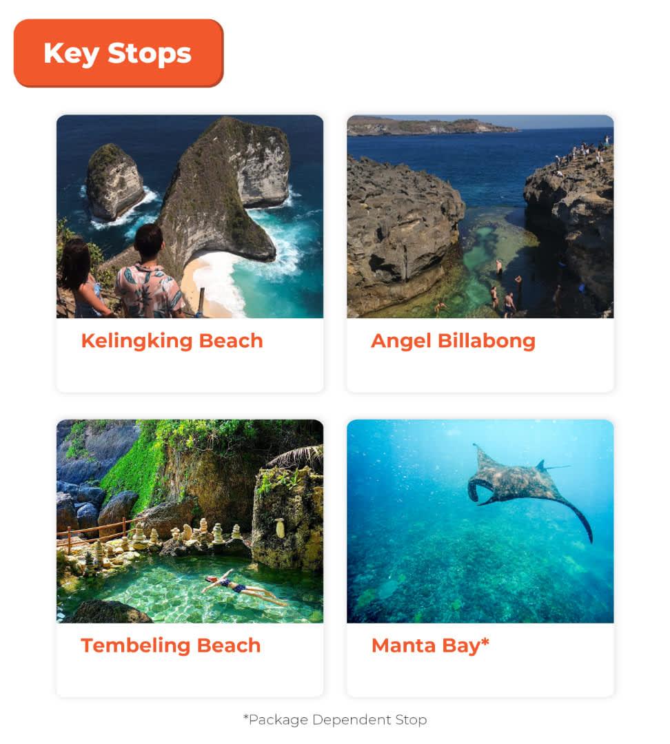 key stops nusa penida full day trip