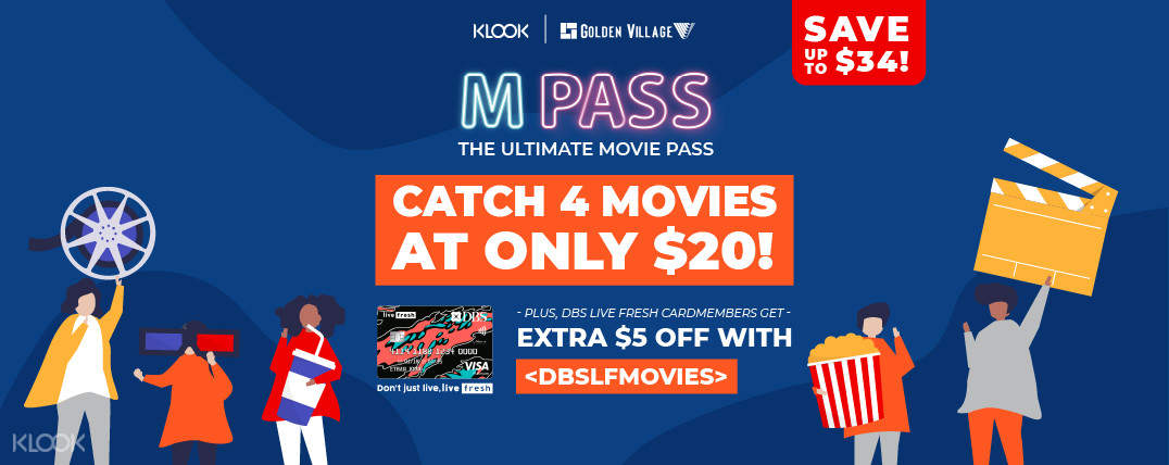 Enjoy additional S$5 off with promo code DBSLFMOVIES when you check out with DBS Live Fresh credit card