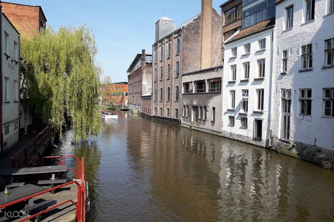 buildings next to canal in ghent