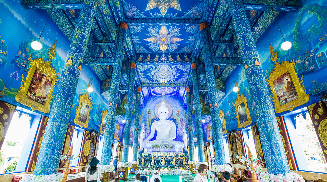 blue temple chiang mai