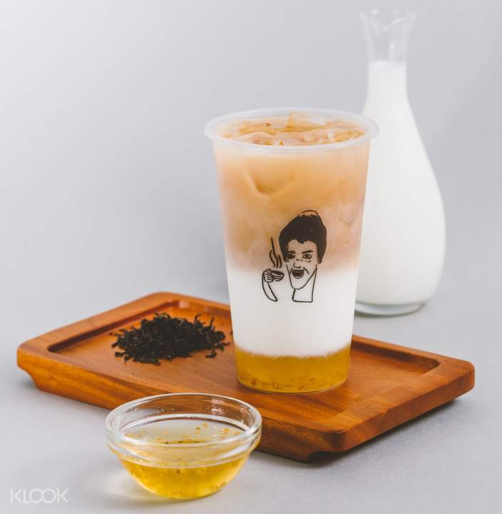 Osmanthus Milk Tea at Don't yell at me in Taipei