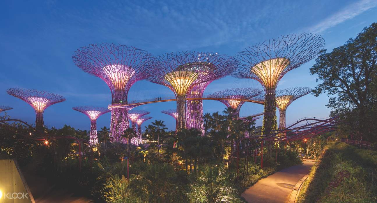 exterior of Singapore Flyer Gardens by the Bay