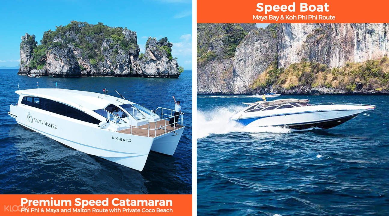 premium catamaran and speedboat tour around maya bay and phi phi island