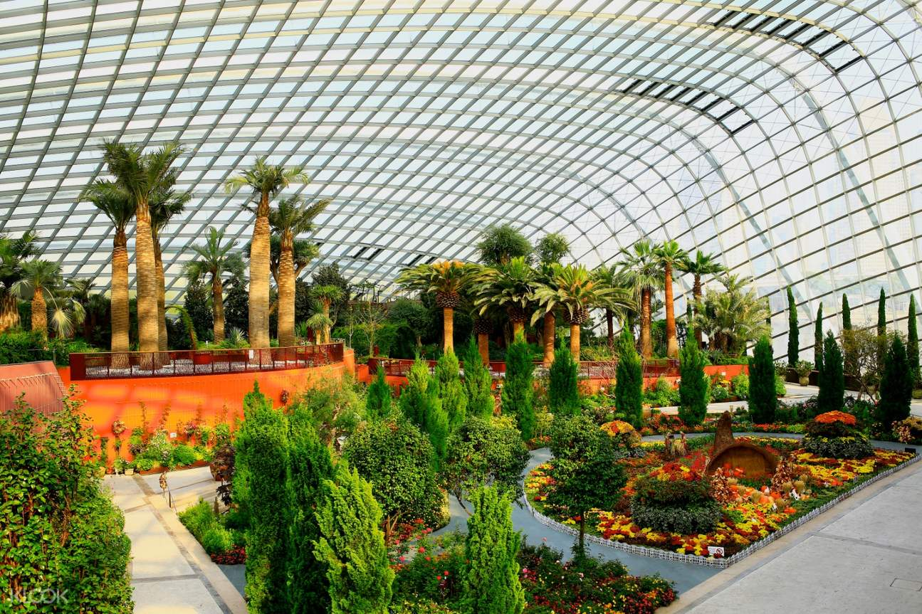 interior of singapore flyer flower dome