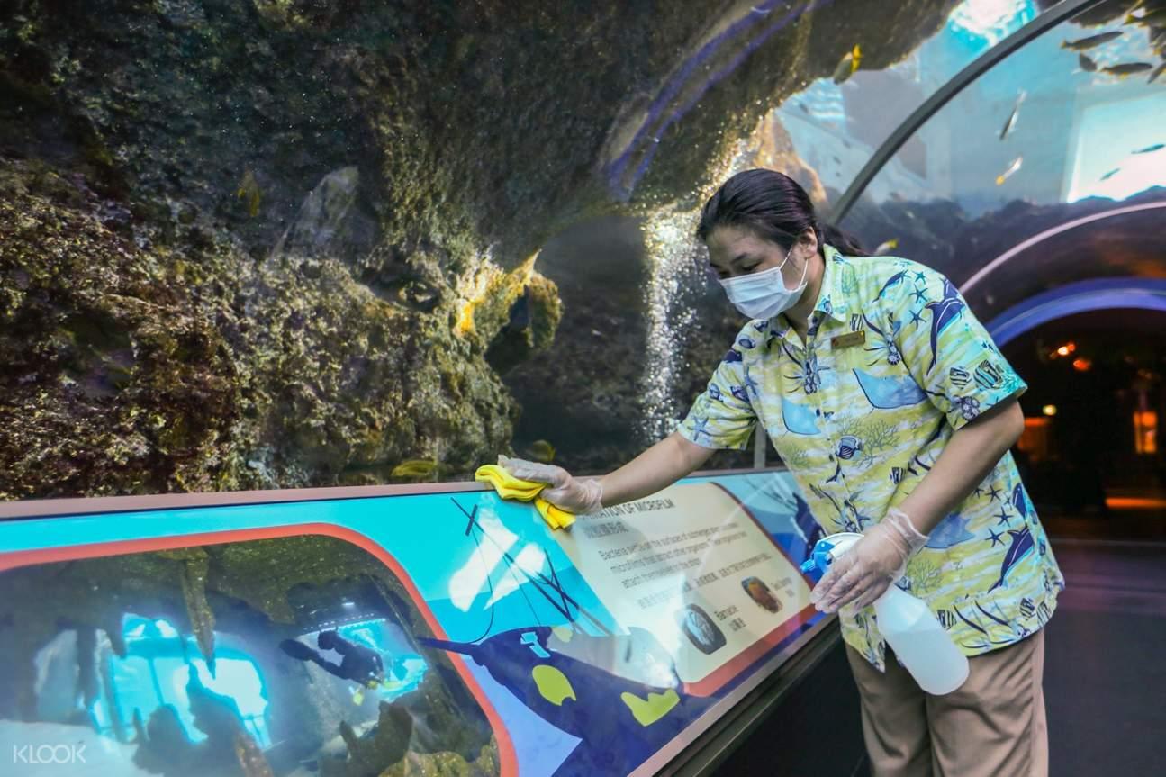 tourist and aquarium