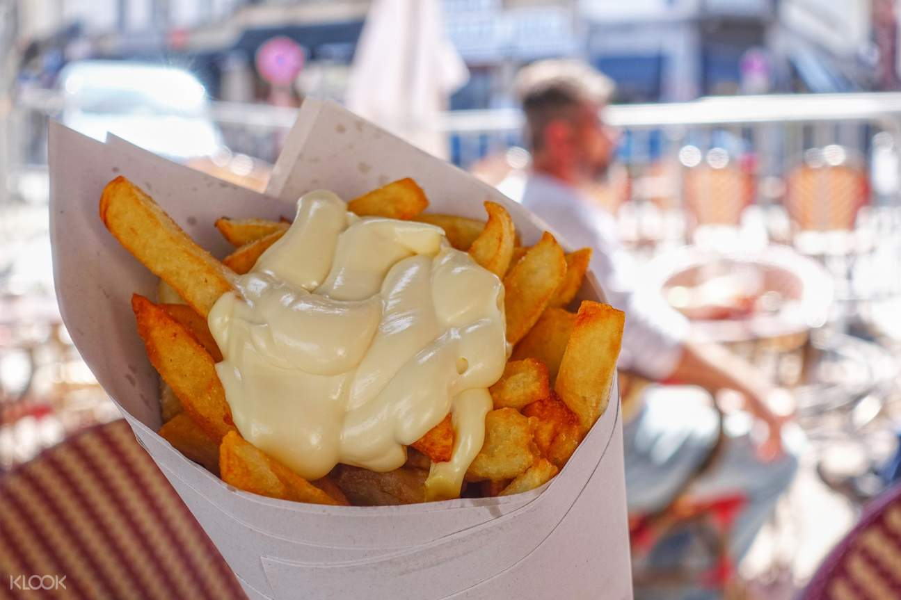 frites with mayo in brussels