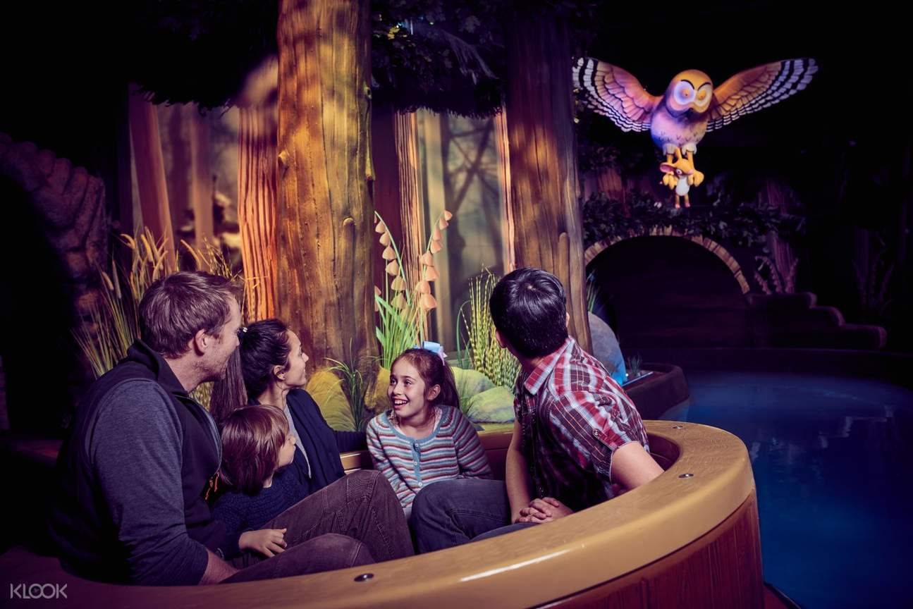 Inside an attraction at Chessington