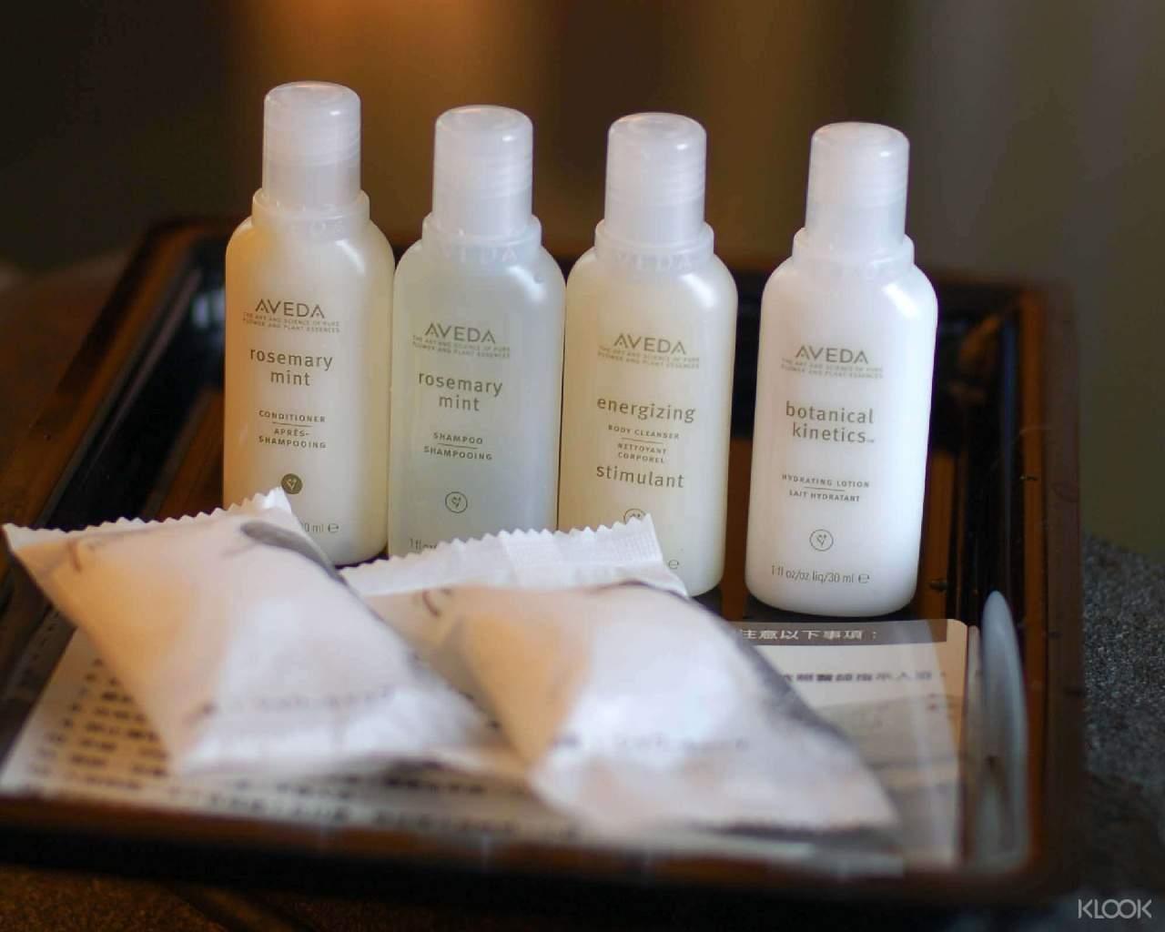 提供頂級AVEDA沐浴旅行組,呵護你的秀髮與肌膚