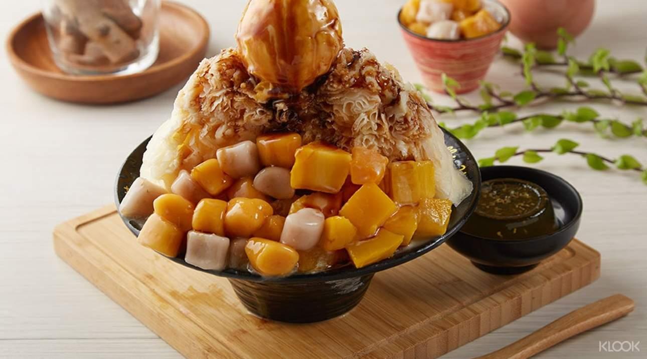 透過Klook客路預訂,用獨家優惠價格品嚐芒果芋圓桂釀雪花冰