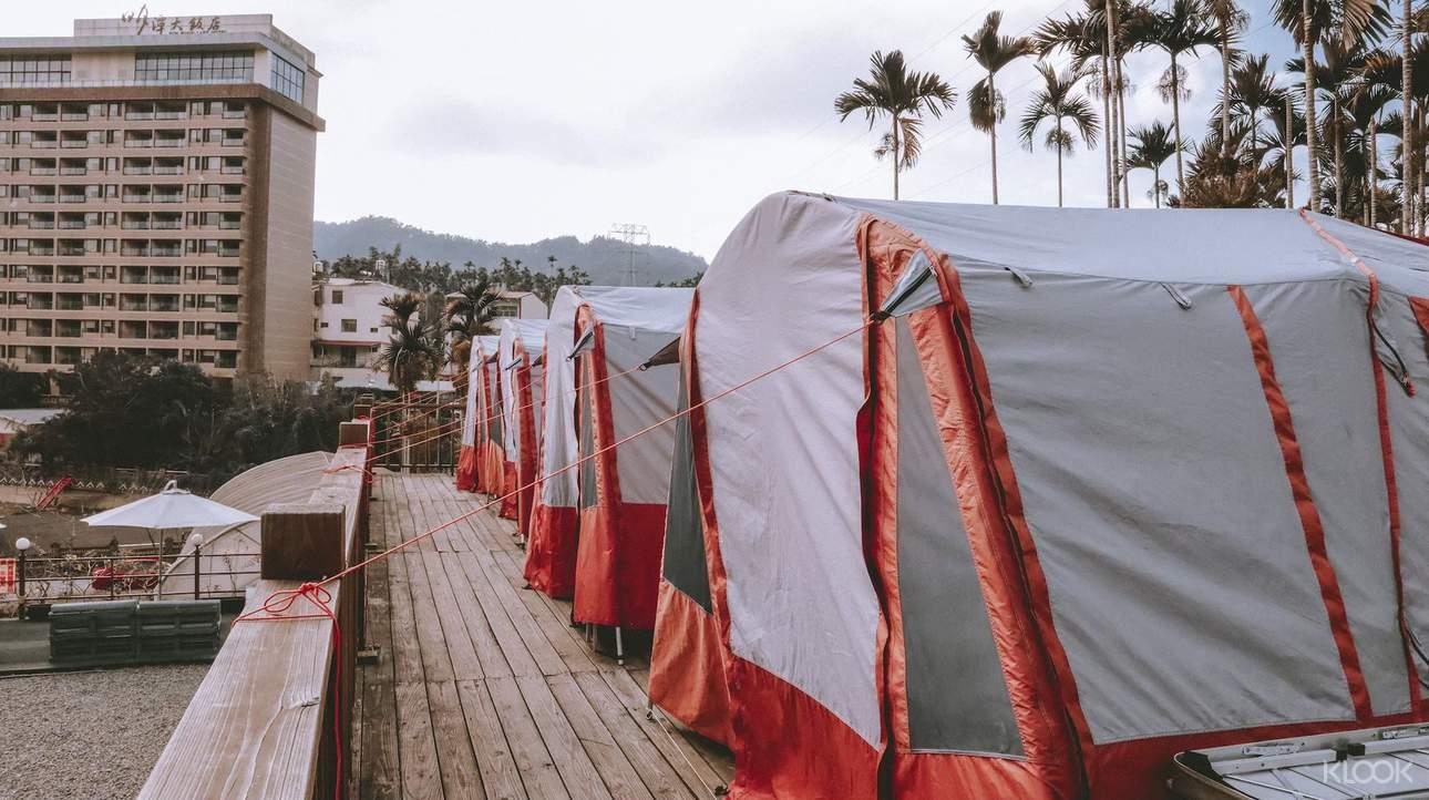 體驗位於湖畔木棧的免搭帳露營,以最親水的方式感受日月潭之美