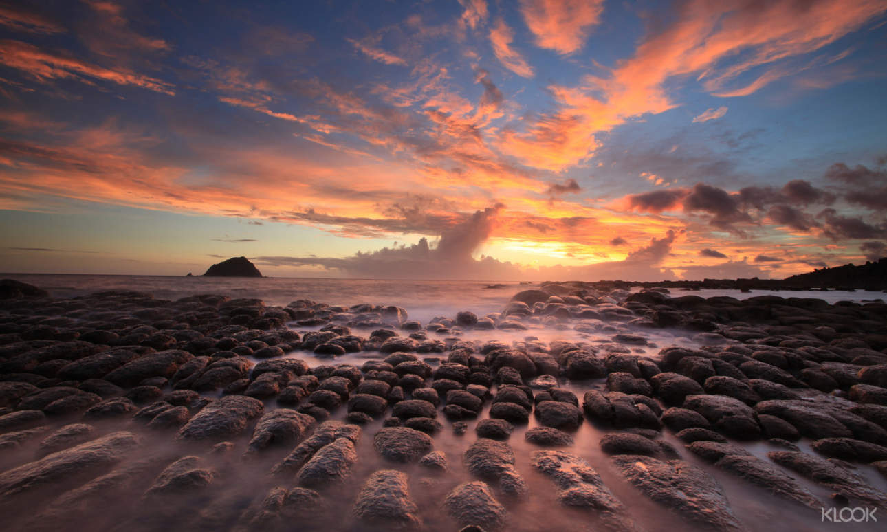 遊玩一日後,在海景第一排欣賞台灣最美的日落