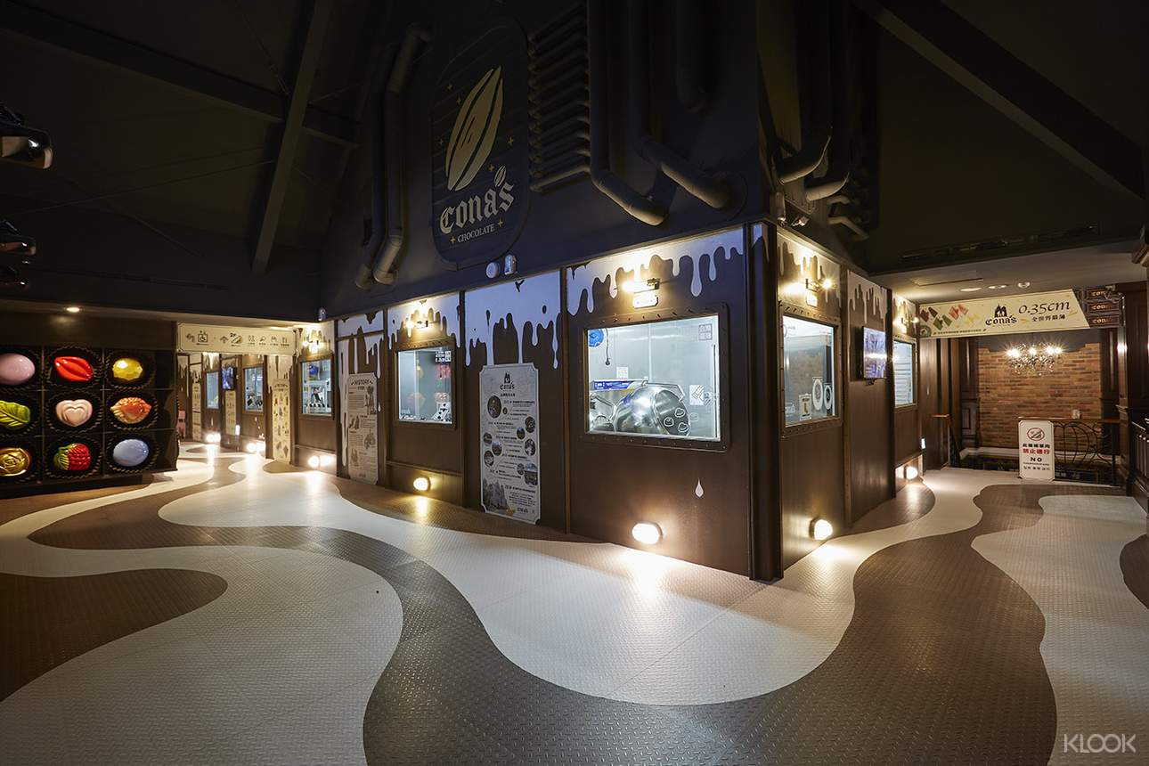 光雕秀、巧克力光影互動知識牆等設施,帶你一窺巧克力的古今歷史