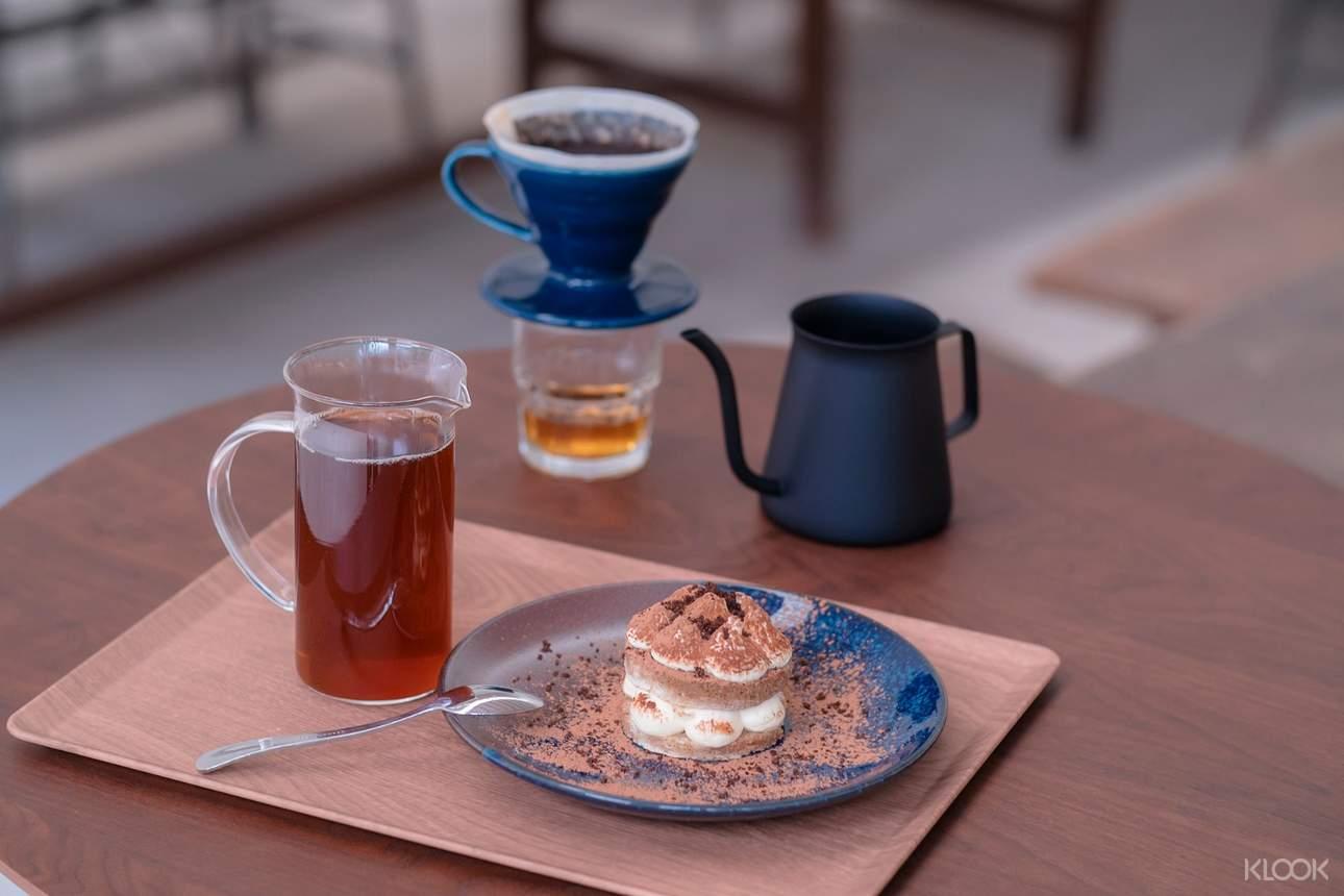 最後,來享用自己沖的咖啡與Dotel限定甜點,渡過悠閒的下午時光吧!