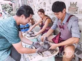 台南安平陶坊手拉坯 & 彩繪劍獅DIY體驗