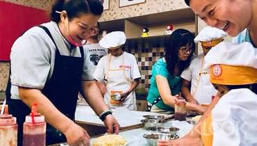 台南卡多利亞故事館團膳觀光工廠:披薩、手指餅乾DIY體驗