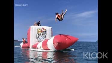 限時8折|澎湖|觀音亭盛夏海上樂園:SUP&彈跳包&滑水&海上跳水